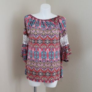 Win Win Pinwheel Sleeve Tunic SZ L-XL